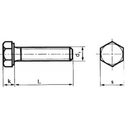 100-060030 Sechskant-Schrauben ohne Schaft_594