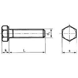 100-060040 Sechskant-Schrauben ohne Schaft_601