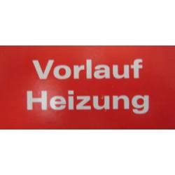 """B1e Bezeichnungskleber """"Vorlauf Heizung""""_8351"""